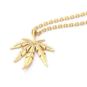 Jewelry - POT LEAF NECKLACE - party 420 gold jewelry chain